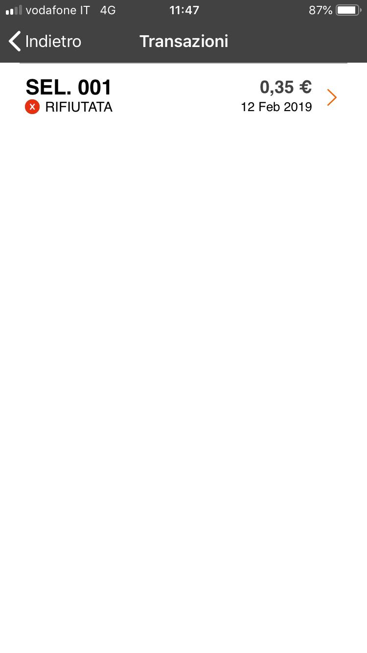 Polin Distribuzione - App Breasy - Addebito rifiutato 1