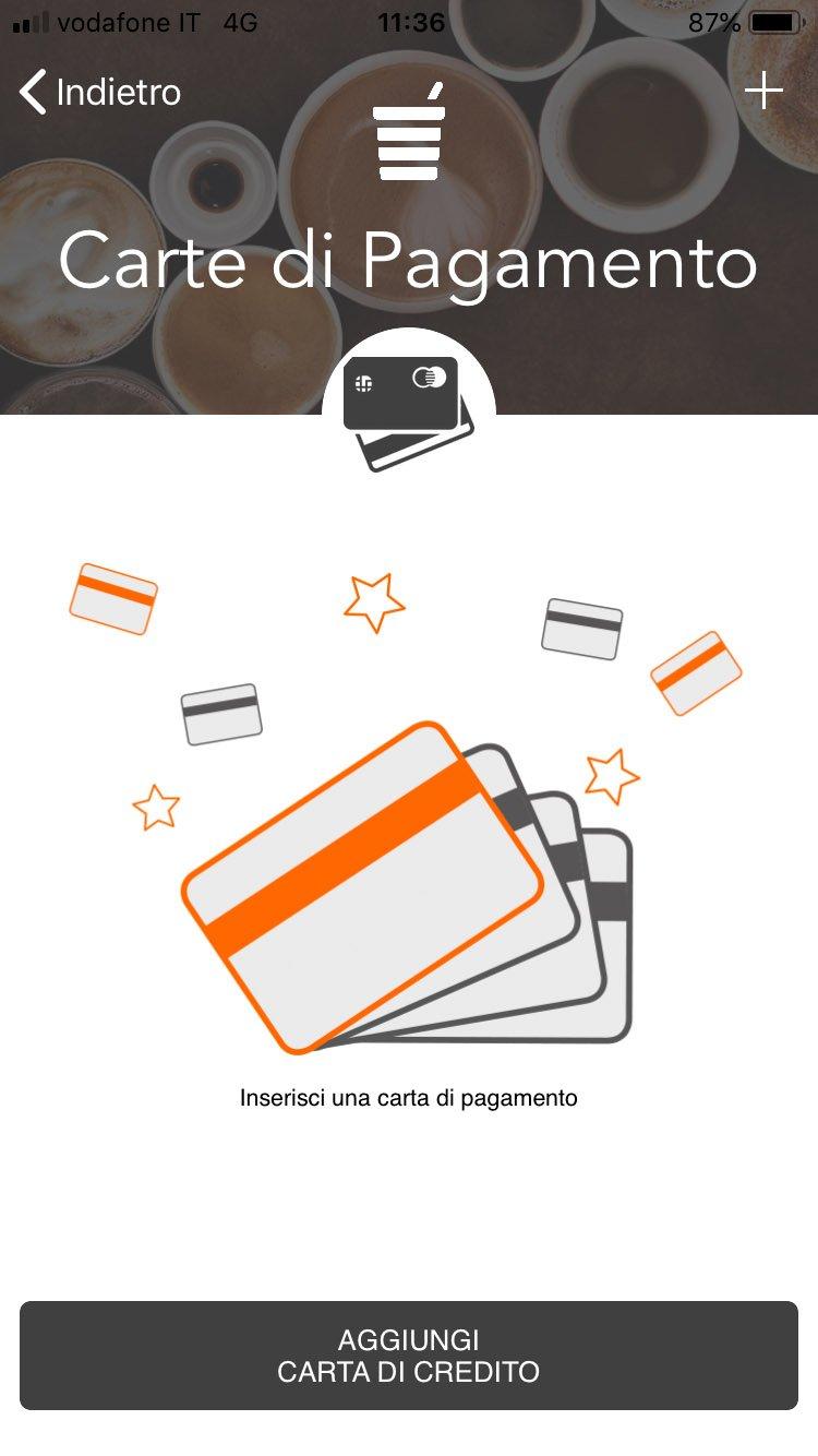 Polin Distribuzione - App Breasy - Pagamento con carta