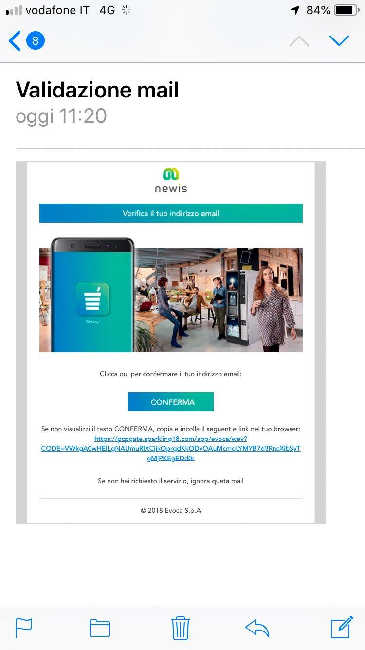 Polin Distribuzione - App Breasy - Richiesta validazione account