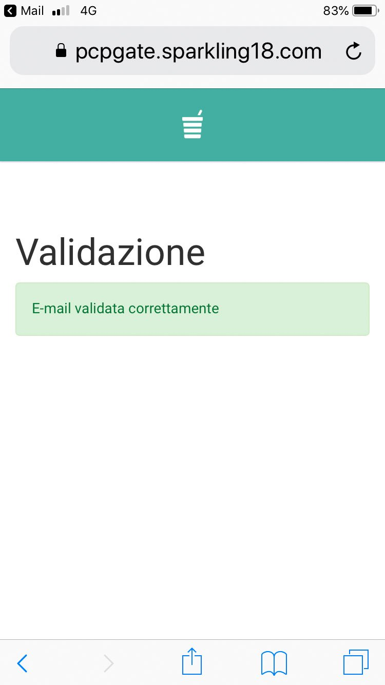 Polin Distribuzione - App Breasy - Validazione account